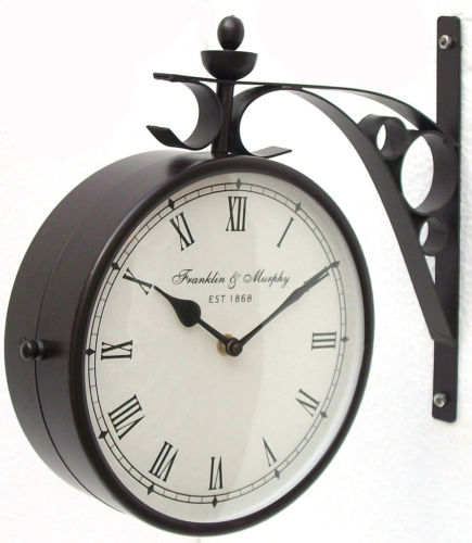 Double Sided New Look Wall Hanging Clock In 8 Inches Black Finishing Please Upgrade To Full Version Of Magic Zoom